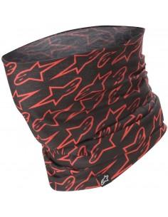 Cubrecuello Alpinestars Astars   Negro y rojo fluor