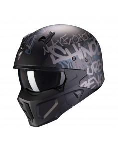 Casco Scorpion Covert-X Wall   Mate-Negro y plata