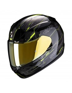 Casco Scorpion Exo-390 Beat | Negro y amarillo fluor