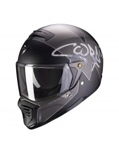Casco Scorpion Exo-Fighter Taktic | Mate-Negro y plata