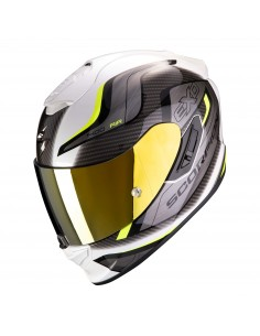 Casco Scorpion Exo-1400 Air Attune | Blanco y amarillo fluor