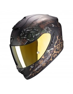 Casco Scorpion Exo-1400 Air Toa | Mate-Negro y oro
