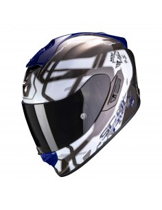 Casco Scorpion Exo-1400 Air Spatium | Blanco y azul