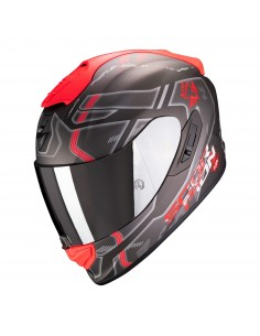 Casco Scorpion Exo-1400 Air Spatium | Mate-Plata y rojo