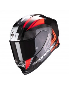 Casco Scorpion Exo-R1 Air Halley | Negro metálico y rojo