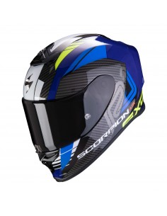 Casco Scorpion Exo-R1 Air Halley | Azul y amarillo neón