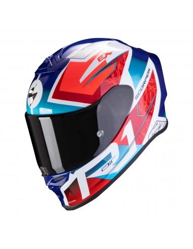 Casco Scorpion Exo-R1 Air Infini | Blanco-rojo-azul