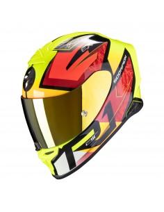 Casco Scorpion Exo-R1 Air Infini | Negro-rojo-amarillo fluor