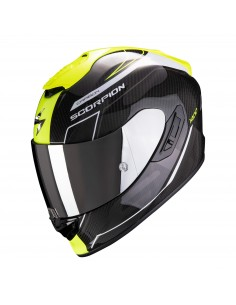 Casco Scorpion Exo-1400 Carbon Air Beaux | Blanco y amarillo neón