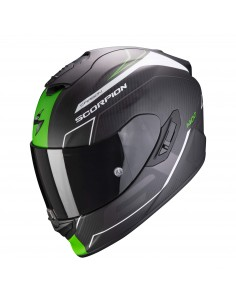 Casco Scorpion Exo-1400 Carbon Air Beaux | Mate-Blanco y verde