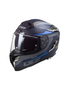 Casco LS2 FF327 C Challenger Carbon Drone | Mate-Carbono y azul