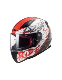 Casco LS2 FF353 Rapid Naughty | Blanco y rojo