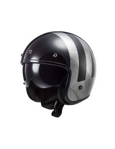 Casco LS2 OF601 Bob HPFC Lines | Negro y titanio