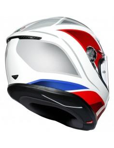 Casco AGV K6 Hyphen | Blanco-rojo-azul