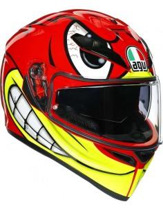 Casco AGV K3 SV Birdy | Rojo y amarillo fluor
