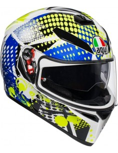 Casco AGV K3 SV Pop | Blanco-azul-lima