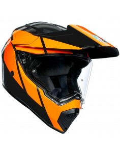 Casco AGV AX9 Trail | Gunmetal y naranja
