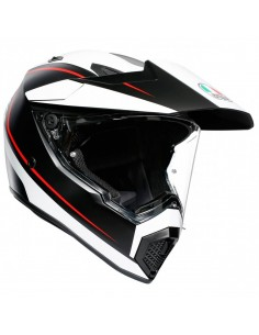 Casco AGV AX9 Pacific Road | Negro-blanco-rojo