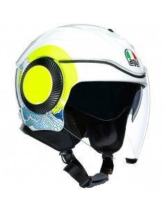 Casco AGV Orbit Sunset | Blanco y amarillo fluor