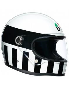 Casco AGV X3000 Invictus | Blanco y negro