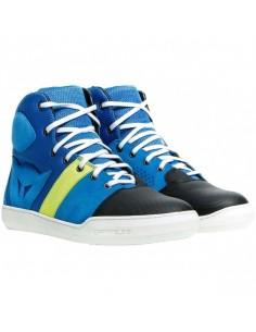 Zapatillas Dainese York Air | Azul y amarillo fluor