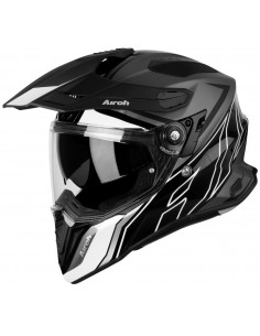 Casco Airoh Commander Duo | Mate-Negro y negro brillo