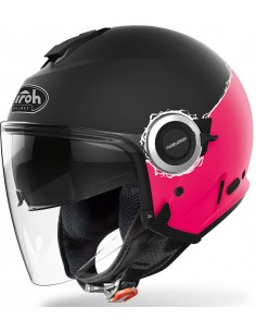 Casco Airoh Helios Fluo Mujer | Mate-Rosa