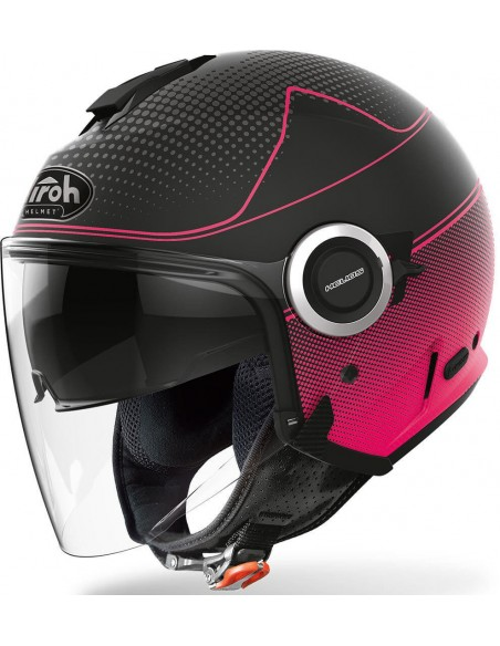 Casco Airoh Helios Map Mujer   Mate-Rosa