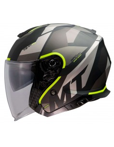 Casco MT Thunder 3 SV Jet Bow A3 | Mate-Amarillo fluor