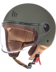 Casco MT Street Solid A6 | Mate-Verde