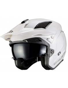 Casco MT District SV Solid A0 | Blanco