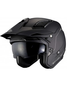 Casco MT District SV Solid A1 | Mate-Negro