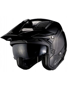 Casco MT District SV Solid A1 | Negro