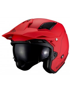 Casco MT District SV Solid A5 | Mate-Rojo
