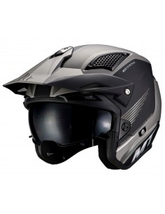 Casco MT District SV Post B2 | Mate-Gris