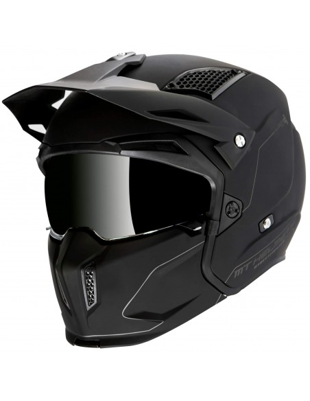 Casco MT Streetfighter SV Solid A6 | Mate-Negro