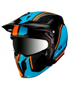 Casco MT Streetfighter SV Twin A4 | Naranja fluor