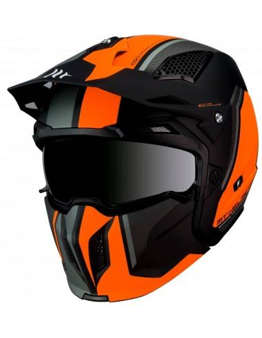Casco MT Streetfighter SV Twin C4 | Mate-Naranja fluor