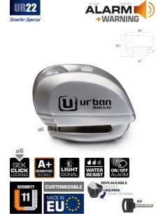 Antirrobo Disco con Alarma Urban UR22