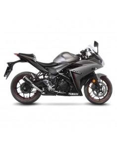 Escape Leovince Lv-10 Black Edition Yamaha YFZ-R25 / YFZ-R3 / MT-25 / MT-03 (14-18) | 15212B