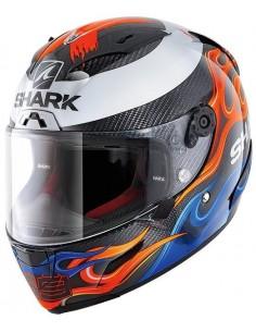 Casco Shark Race-R Pro Carbon Réplica Lorenzo 2019   Carbono-azul-rojo   HE8668DBR