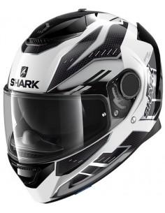 Casco Shark Spartan Antheon | Blanco-plata-negro | HE3435WSK