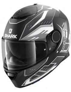 Casco Shark Spartan Antheon Mate | Negro y blanco | HE3436KWK