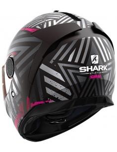 Casco Shark Spartan Kobrak Mate Mujer | Mate-Negro y violeta | HE3441KVV