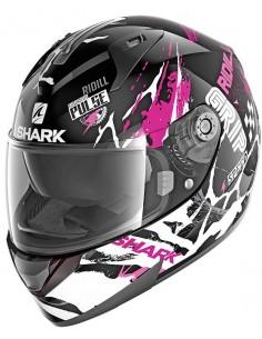Casco Shark Ridill Drift-R Mujer | Negro-violeta-blanco | HE0535KVW