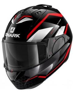 Casco Shark Evo-Es Yari   Negro-rojo-blanco   HE9803KRW