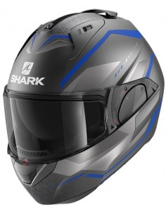 Casco Shark Evo-Es Yari Mate | Mate-Antracita-azul-plata | HE9804ABS