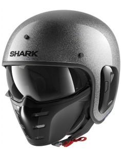 Casco Shark S-Drak 2 Glitter | Brillantina Plata | HE2762SSX
