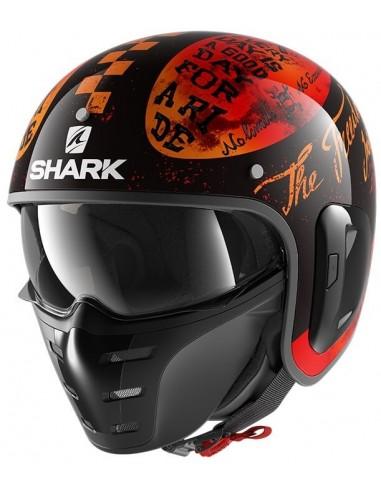 Casco Shark S-Drak 2 Tripp In | Negro y naranja | HE2763KOO