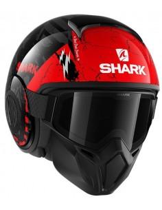 Casco Shark Street-Drak Crower | Negro-antracita-rojo | HE3317KAR